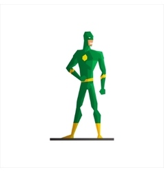 Superhero Wearing Green Suite vector image