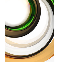 swirl and circles futuristic geometrical abstract vector image