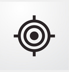 Target sign icon symbol flat icon flat vector