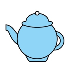 teapot isolated icon design vector image