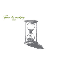 Time is money concept hand drawn isolated vector