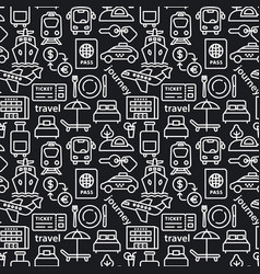 travel seamles pattern vector image