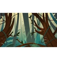 Tropical rainforest jungle vector