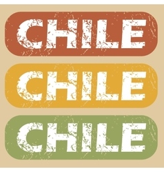 Vintage Chile stamp set vector