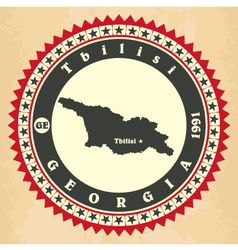 Vintage label-sticker cards of Georgia vector image