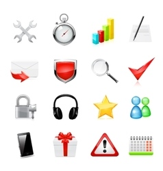 Web icon set vector image