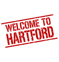 Welcome to hartford stamp vector