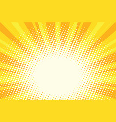 yellow gold cartoon sunrise pop art background vector image