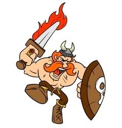 Angry Viking vector image