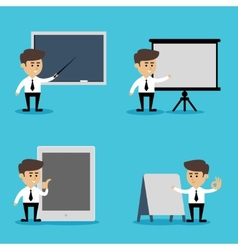 Businessman presentation set vector image