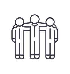 cooperationteamwork line icon sign vector image vector image