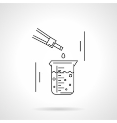 Laboratory research flat line icon vector image