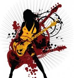 rock woman vector image