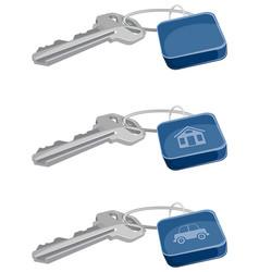 Three keys set vector