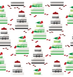 Wedding cake seamless background vector image vector image