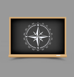 blackboard geography lesson vector image