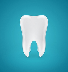 Clean healthy teeth on blue background vector image