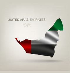 Flag Arab Emirates in a country vector image
