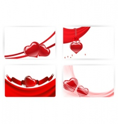 heart cards vector image vector image