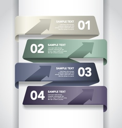Numbered Banner Design vector image vector image