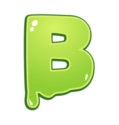 slimy font type letter b vector image
