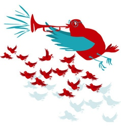 trumpet bird vector image