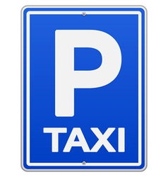 Blue Taxi Sign and Parking vector image