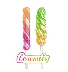 hand drawn lollipops vector image