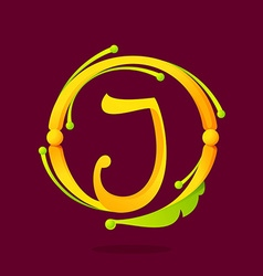 J letter monogram design elements vector
