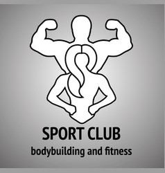 man and woman fitness logo vector image vector image