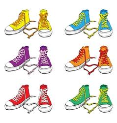 Sneakers set vector image vector image