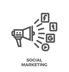 social marketing line icon vector image