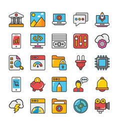 Web design and development icons 5 vector