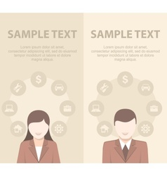 Businessmen have ideas on vector image vector image