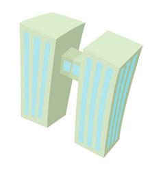 double building icon cartoon style vector image