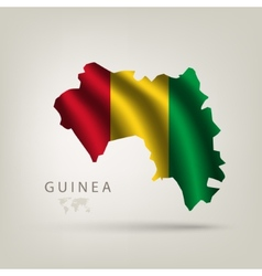 flag Guinea as the country vector image vector image