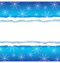 Winter frame with paper and snowflakes vector image vector image