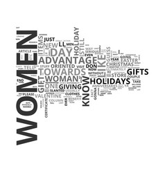 Women own the holidays text word cloud concept vector