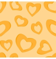 3D Golden hearts Seamless background vector image