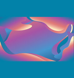 Abstract fluid color background design vector