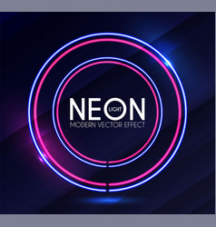 abstract neon shining banner colorful light vector image