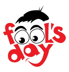 April fools day design vector image