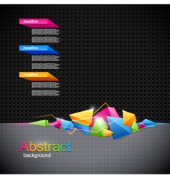 Background with colored geometric abstraction vector