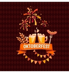 Banner for Oktoberfest celebration Beer and vector image
