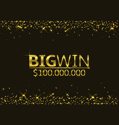 big win vector image