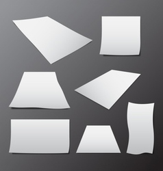Blank paper template in different sizes vector