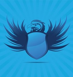 Blue Shield Eagle vector image