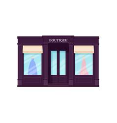 Boutique storefront shop vintage store front vector
