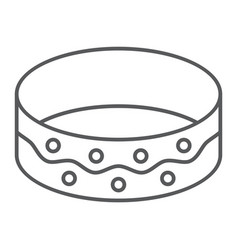 bracelet thin line icon jewellery and accessory vector image