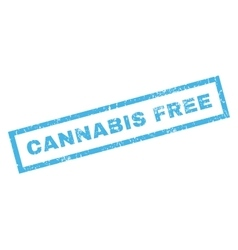 Cannabis Free Rubber Stamp vector image